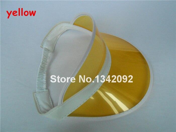 DHL/EMS 48 шт./лот неоновый Защита от солнца козырек пик Кепки ясно Пластик летняя шляпа Rave фестиваль нарядное платье Liquor& Poker повязка на голову - Цвет: yellow