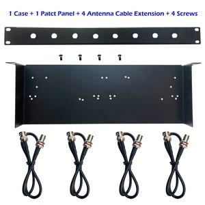 Image 2 - 1U Rack Mount,Shelf Tray Case, Patch Panel, Antenna Cable Extension for SLX4 288 Sennheise ew100G2 G3 ew135 G2 G3 Wireless Mic