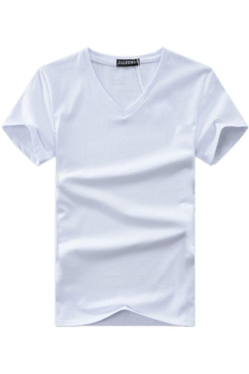 Hot 2017 new summer men V neck t shirt cotton letter Solid color t-shirt short sleeve brand t shirt for men Asian plus size 5xl cotton letter patterned t shirt