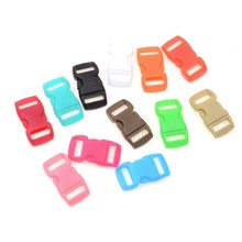 MIAOCHI 20PCS 10mm Colorful Curved Side Release Buckle Clasps For Paracord Bracelet Backpacks Clothes Bags Parts 10piece 50mm dia plastic quick side release buckle for paracord bracelet