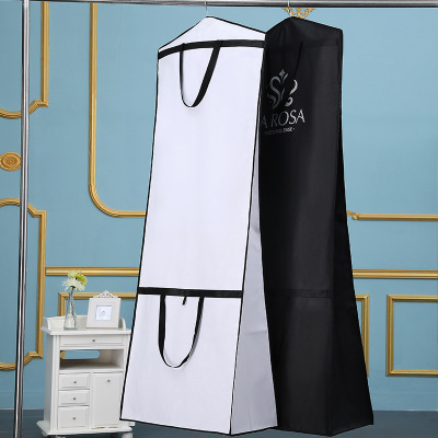 170cm Non woven Fabric Bridal Dress Gown Carry Protection Cover Garment Storage Bag Wedding Dress Accessaries 10pcs/lot-in Clothing Covers from Home & Garden    1