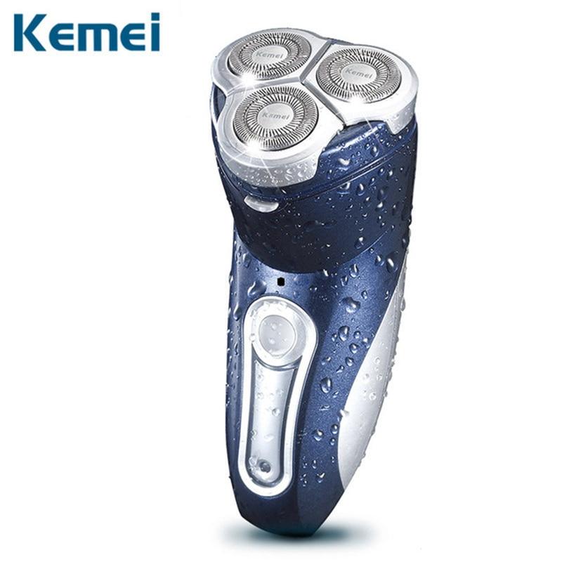 Kemei rechargeable shaver men shaver waterproof washable razor shaving razor facial care 3D floating hair beard pruner цена и фото