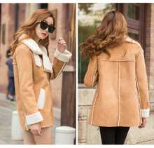 2013 new women's long thick suede jacket female lapel real nature rabbit fur winter coat plus size S-XXL free shipping H1857