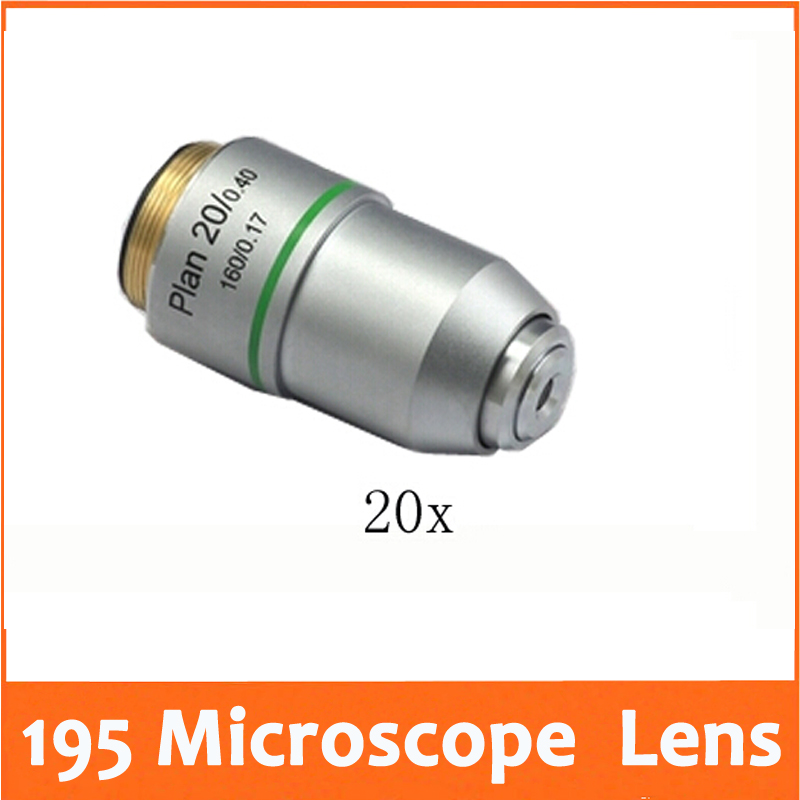 цена на 20X 195 Plan Achromatic Biological Microscope Objective Lens for Educational School Lab Student Biomicroscopy Accessories 20.2mm