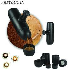Mini Hand Tragbare Kaffeemaschine Mini Espresso Manuell Handheld Druck Espressomaschine Drücken Freies Verschiffen