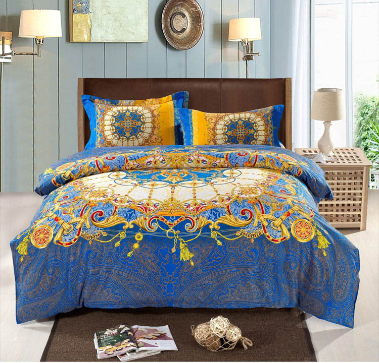 Bohemian Bedding Set Thicken Cotton Brushed Comforter Bedding Sets ... : bed sheet quilt set - Adamdwight.com
