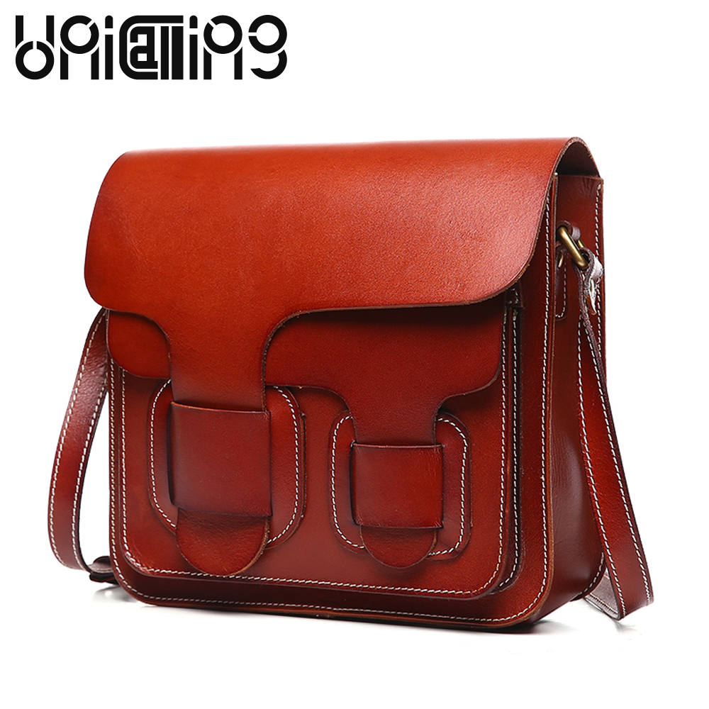 New style Fashion Genuine Leather women bag Retro Cow Leather small shoulder bags Top grade All-match mini women crossbody bag new style messenger bag men leather top grade all match hasp fashion retro cow leather men bag solid color small shoulder bags
