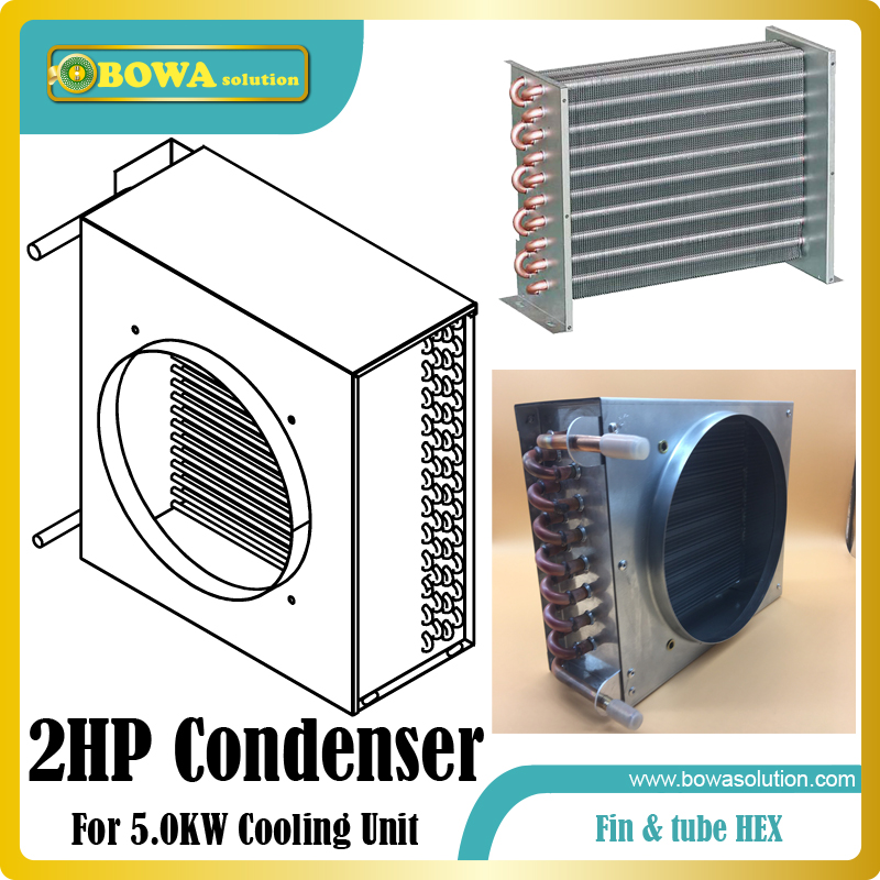 2HP fin & tube heat exchanger suitable for air dryer machine or freezer dryer machine and dehumdifier machines r410a compressor 1250w cooling capacity suitable for dehumidifiermachine or air dryer machine