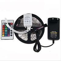 Großhandel 5 mt 3528 Wasserdichte Led-streifen RGB IP65 Led-Licht DC12V 60 LEDs/M außenbeleuchtung Farbband lampe Dekoration Lampe