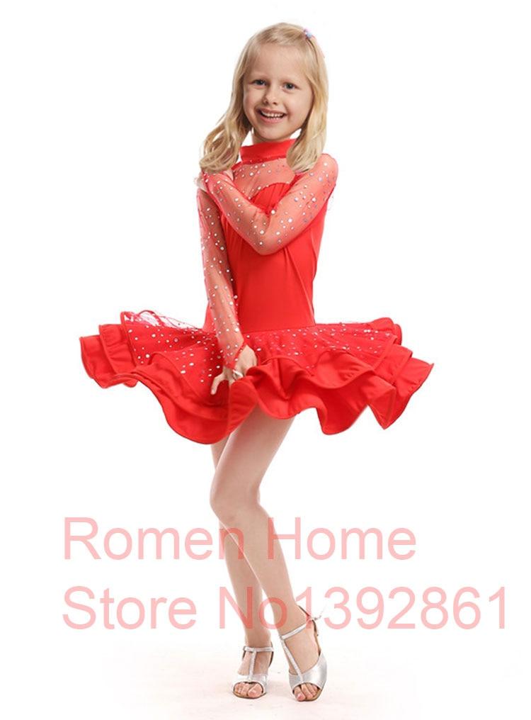 Children Girl Latin Dance Dress Kids For Girls Ballroom Dresses ...