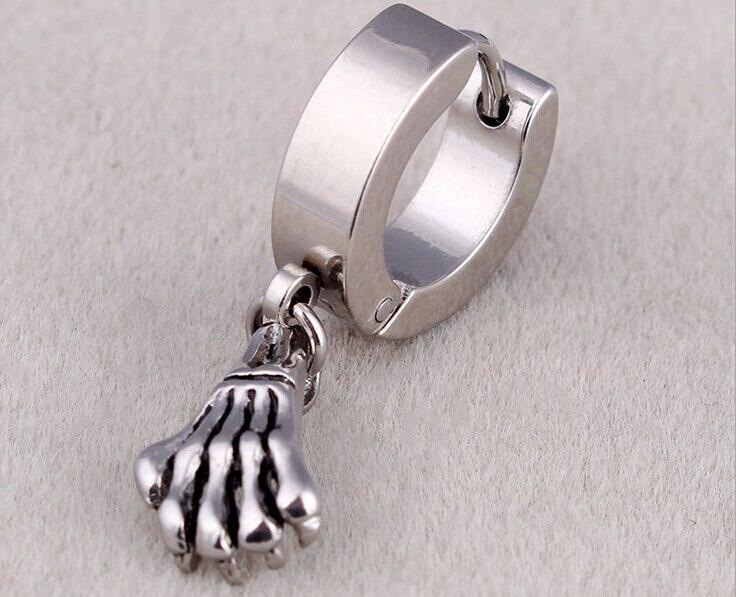 20pieces new fashion hoop earrings silver earrings for men