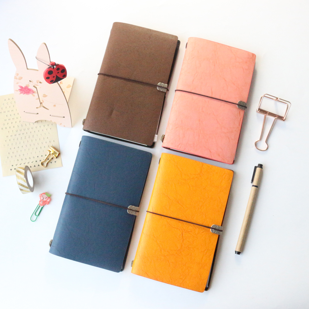 New portable leather office school bandage traveler journal notebook stationery,fine vintage buccaneer captain travel notebook domikee classic fabric hardcover cover fitted travel journal notebook stationery fine portable office school note pad gift b6