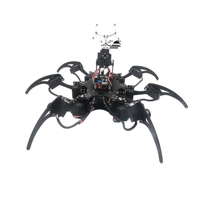 Montado 20DOF Aluminio Hexápodo Robótica Araña Seis Piernas de Robot con Garra y LD-1501 Servos y Servo Controlador