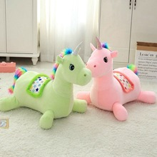60*40*60 Cm Big Size Soft Unicorn Ridable Sofa Plush Toy Adorable Toys For Children