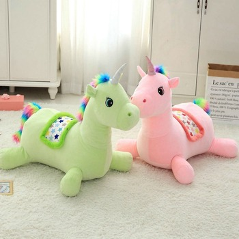 60*40*60 Cm Big Size Soft Unicorn Ridable Sofa Plush Ridable Toy Adorable Unicorn Plush Toys For Children