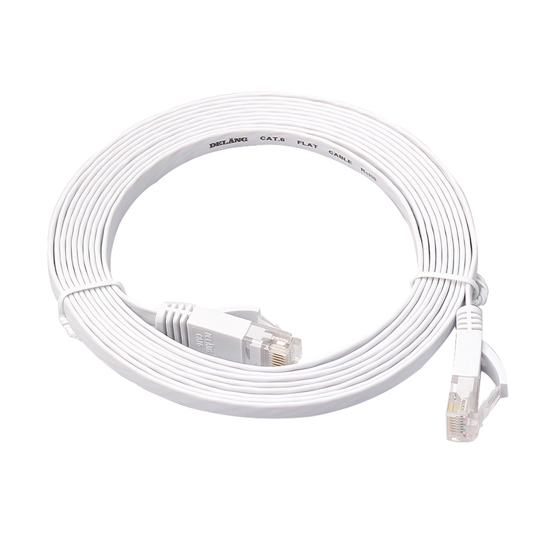 New For PC Router Ethernet CAT6 Internet Network Flat Cable Cord Patch Lead RJ45