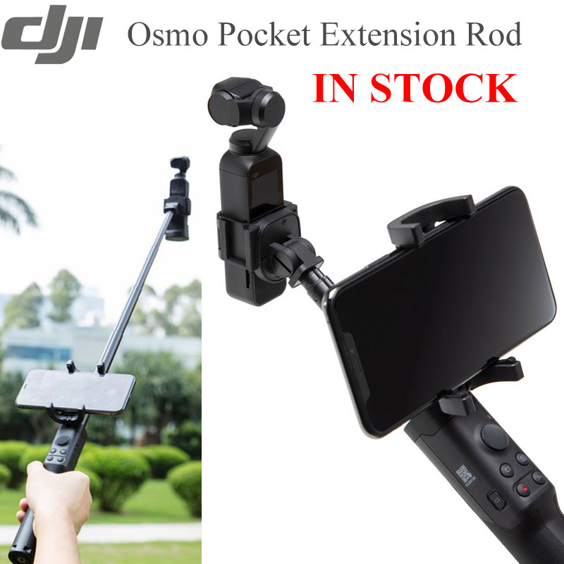 Extension Rod Osmo Pocket Hand Grip Tripod Pole handle phone holder for DJI Osmo Action gopro
