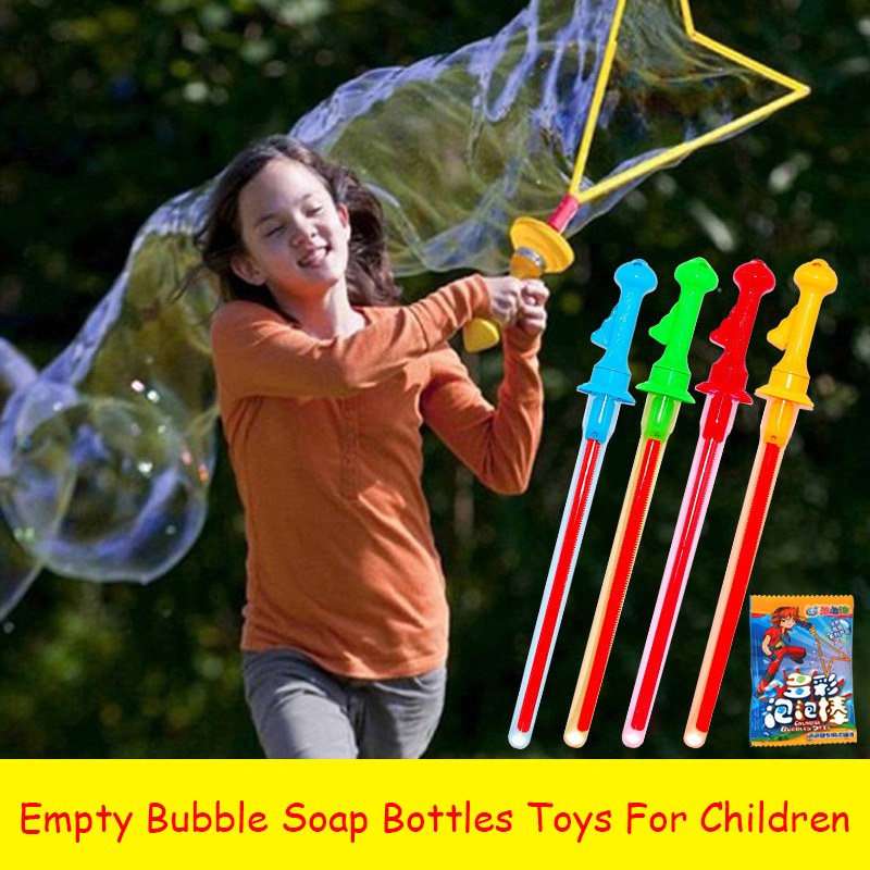 Big Size 46cm Outdoor Toys Long Bubble Machine Gun Bar Sticks Western Sword Shape Soap Bubble Toys For Children Kids Gift