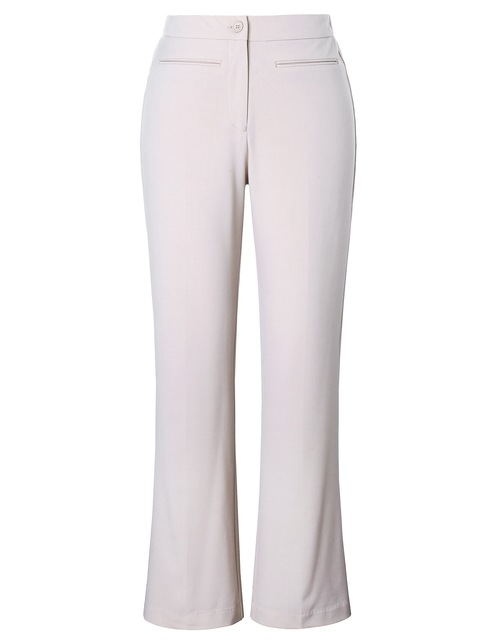 2018 Chicwe Women s Plus Size Work Pants Curvy Fit Bootcut Large Size Big  Size Stone Color Trousers 468f5ffe6f90