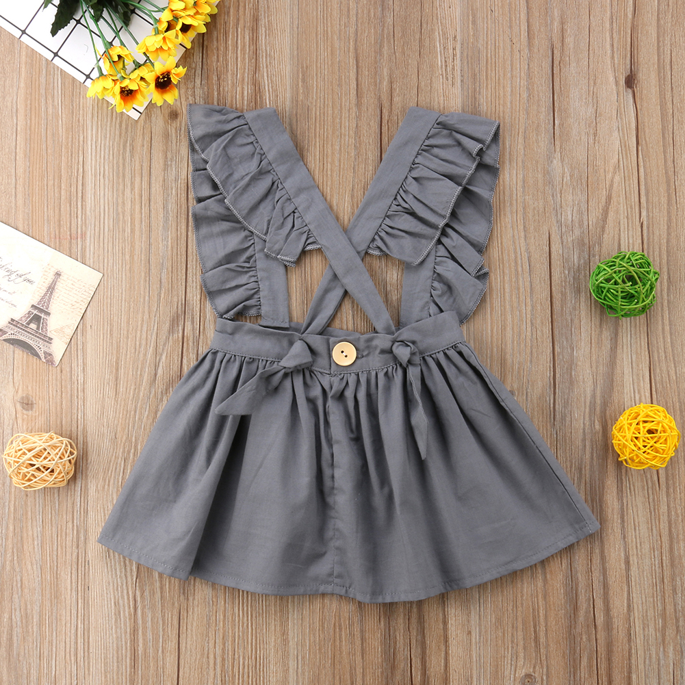 Летняя Однотонная юбка для маленьких девочек Праздничная юбка принцессы 0-24 месяцев