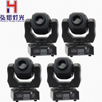 Hot sell high brightness 60W spot moving head light stage dj DMX512 60 watt led mini gobo moving heads 4pcs/lot