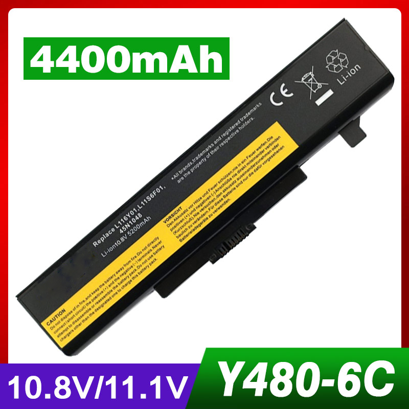 Laptop Battery For Lenovo G580 L116Y01 L11O6Y01 L11S6F01 L11L6F01 L11P6R01 L11S6Y01 IdeaPad Y580 B480 B485 Y480 Y480A Y480P lmdtk new 9 cells laptop battery 121500049 for lenovo g500 y485n series ideapad g580 y580 y480 z480 y580n