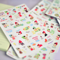 6Pcs/Lot Lovely Girl Stickers Scrapbooking T Do School Supplies A Diary Kawaii  Label Cartoon expression Sticker Kids Toys