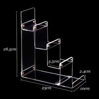 Wholesale 2pcs Clear Acrylic Wallet Mobile Phone Dispaly Stand Card Holder Rack 4 Tiers High Quality