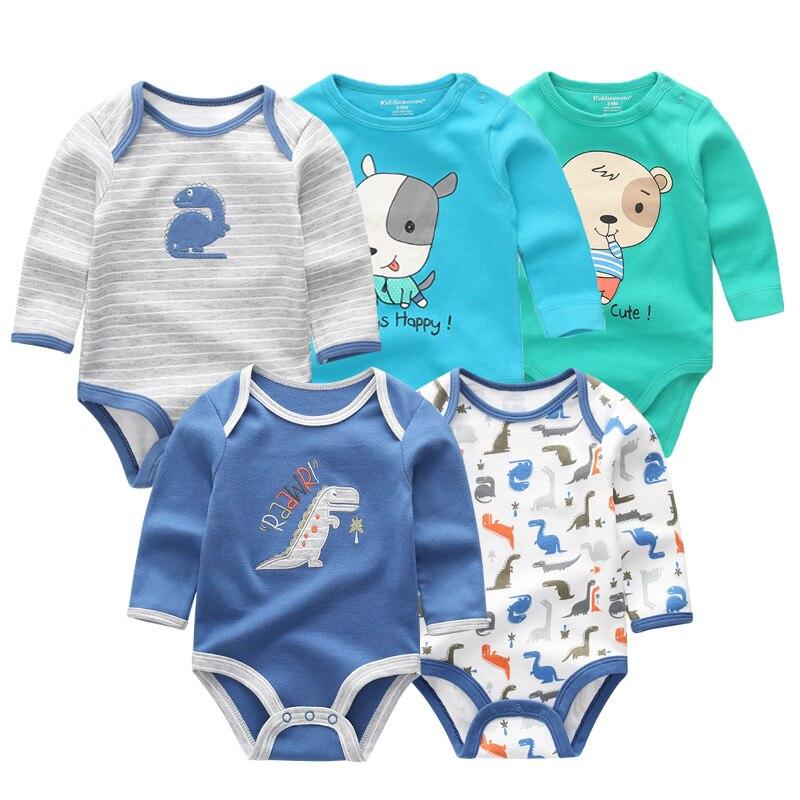 5 PCS//lot Newbron Rompers Set Baby Jumpsuit Baby Romper Roupa de Bebe Clothes