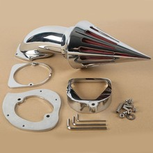 цена на Motorcycle Chrome Spike Air Cleaner Intake Filter For Honda Shadow Spirit 750 1998-2013 New