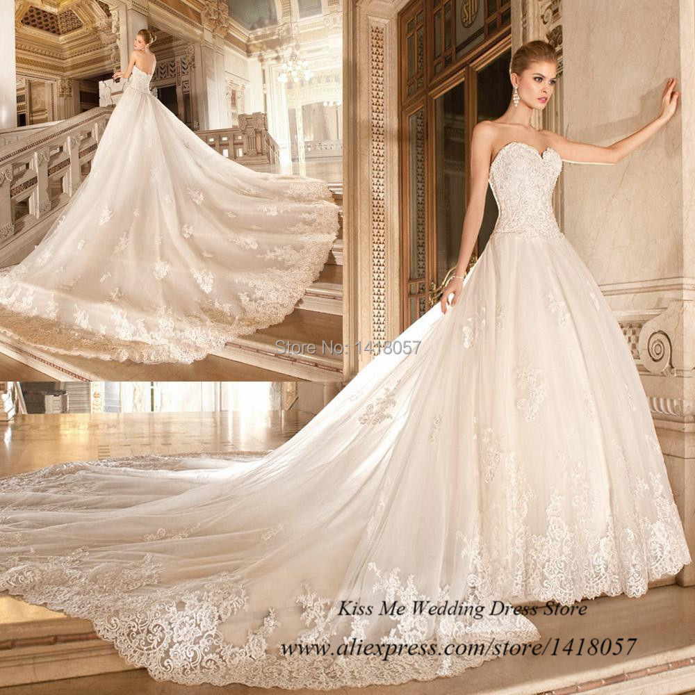 Ball Gown Wedding Dresses With Train: Noble Ball Gown Wedding Dresses With Long Train Removable