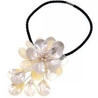 Frete Grátis NOVO!! Mar branco shell flower gargantilha colar Moda Feminina Jóias Presente