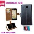 Super hot! 2016 Oukitel C3 5.0 polegada caso o preço de fábrica 7 cores de couro exclusivo antiderrapante tampa do telefone + rastreamento