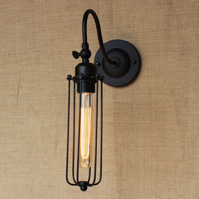 Edison morden americký průmysl nástěnná svítidla Nostalgic Vintage Iron Loft Ulička koupelna foyer balkon Nástěnná lampa na balkon