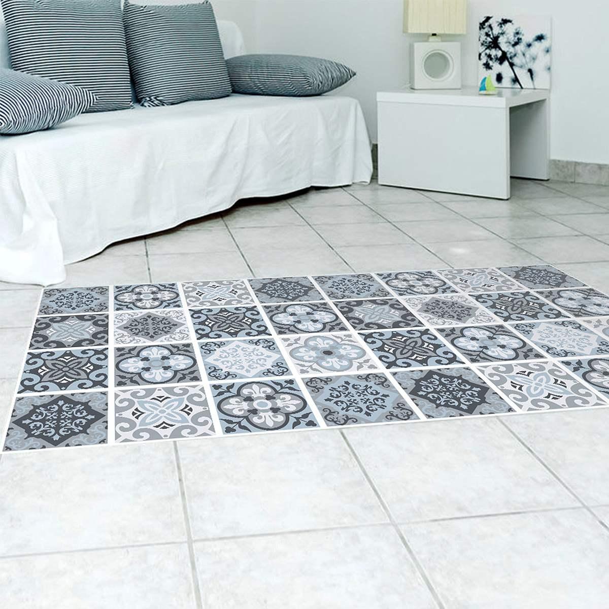 Fashion Home Decor PVC Floor Living Room Bathroom Mat Waterproof ...