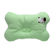 Hot Sale Organic Cotton Flat Head Baby Pillow Infant Toddler Bedding Newborn Soft Neck Pillow