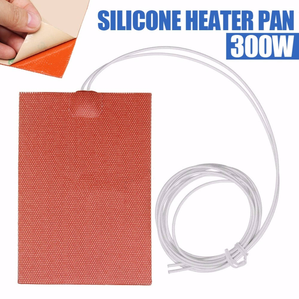 300W 220V 10x15cm Engine Oil Tank Silicone Heater Pad Waterproof Heating Pads