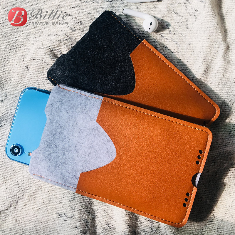 e448773ac048c5 For Apple iPhone XR Case Cover Mobile Phone Bag Handmade Wool Felt Pouch  Purse Case bags For iPhone xr 6.1inch Protective Case-in Phone Pouch from  ...