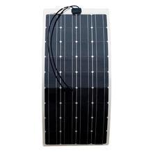 ECO-WORTHY 100 w semi paneles solares flexibles módulos solares de 100 vatios mono portátil con 15A Solar Regulador Del Cargador