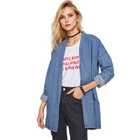 Border For European Wind Foreign Trade Suit dress Cowboy Loose Coat Woman Autumn 2019 New Pattern Leisure Time Easy Cardigan