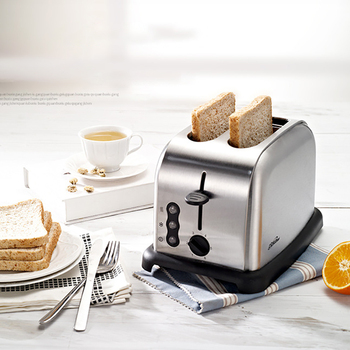 220V Toaster Automatic Baking Bread Maker Breakfast Machine of Bread 6 Levels of Tanning Removable Crumb Tray 3