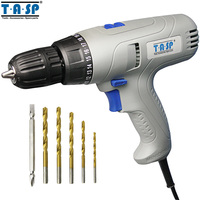 TASP 220V 280W Electric Screwdriver Variable Speed Drill Torque Adjustable With 5m Long Cable