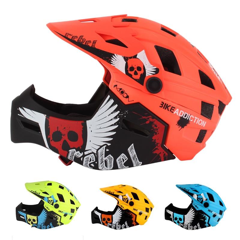 Kids Bike Helmet Full Face Detachable 2 10 Years Old Children Helmet MTB BMX Balance Bicycle