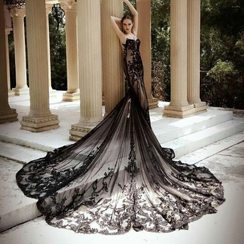 Enchanting Vestido De Novia Negro Adornment - Wedding Ideas ...