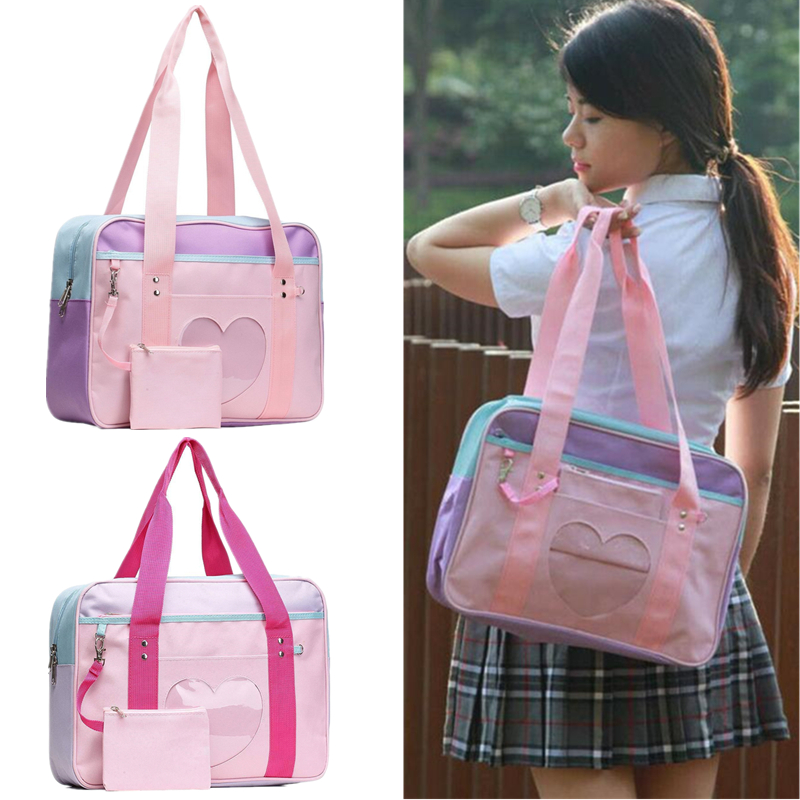 Japanese Heart Lolita Anime Girls Handbag Shoulder Bag JK Itabag Cosplay