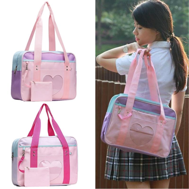 Japanese Heart Lolita Anime Girls Handbag Shoulder Bag JK Itabag Cosplay