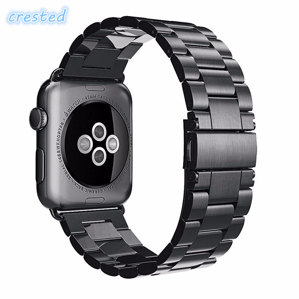 CRESTED Luxury strap & Link Bracelet Stainless Steel watch Band For Apple Watch band 42 mm/38 Metal Band for iWatch serise 1/2 crested milanese loop strap metal frame for fitbit blaze stainless steel watch band magnetic lock bracelet wristwatch bracelet