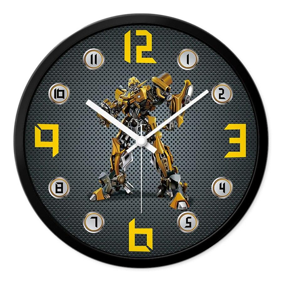 Horloge murale créative pour enfants pendule Art Craft Bumblebee montre murale circulaire décor à la maison horloge moderne outil décoratif 60A02