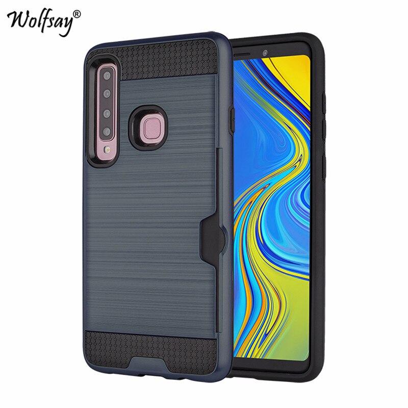 For Samsung Galaxy A9 2018 Case Armor Rubber Hard Phone Case For Samsung Galaxy A9 2018 Card