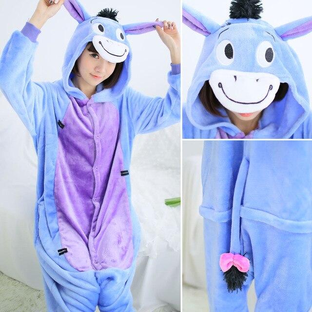 Pajamas Sets Women Flannel Animal Pajamas Suits Winter Warm One Piece Pyjamas Unicorn Onesies Cosplay Costume